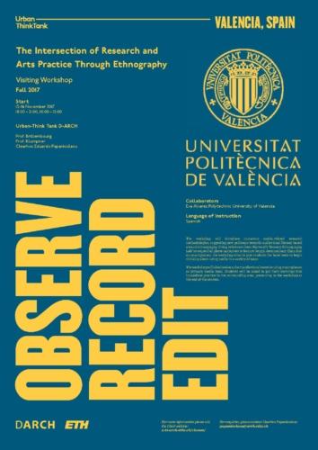Observe, Record, Edit – Valencia