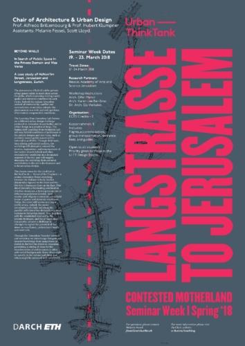 Langstrasse to Jerusalem – Contested Motherland